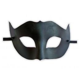 Venezianische Maske Leder Schwarz 'Gebieterin'