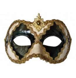 Venezianische Maske Schwarz und Weiss