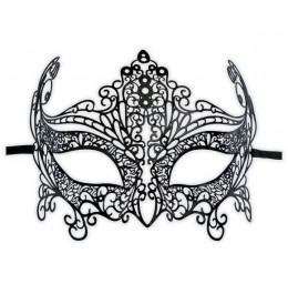 Schwarze Venezianische Filigranmaske 'Davina'