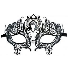 Filigrane Maske aus Metall 'Herz'