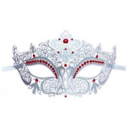 Filigrane Venezianische Maske 'Nobles Weiß'