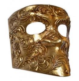 Goldene Bauta Maske mit Ornamenten