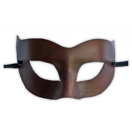 Venezianische Maske Leder Braun