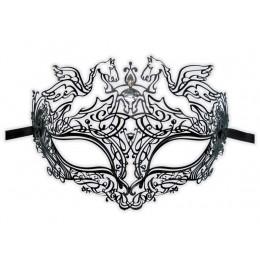 Filigrane Venezanische Maske aus Metall 'Pegasus'