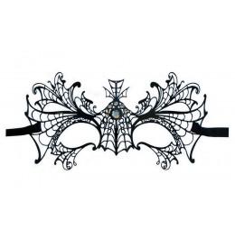 Filigranmaske aus Metall 'Schwarze Witwe'