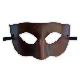 Venezianische Maske aus braunem Leder 'Gebieter'