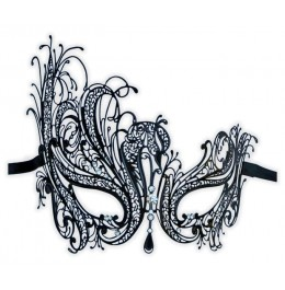 Venezianische Maske schwarz aus Metall 'Eliane'