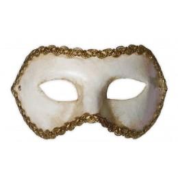 Venezianische Maske Weiss Colombina