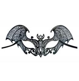 Venezianische Maske aus Metall 'Teufelin'