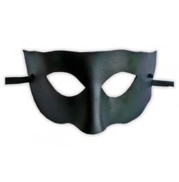 Venezianische Maske aus schwarzem Leder 'Gebieter'