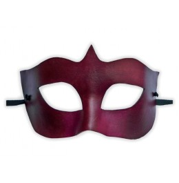 Venezianische Leder Maske Weinrot