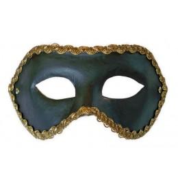 Venezianische Maske Schwarz Colombina