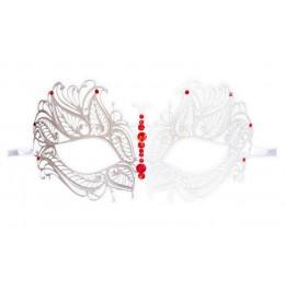 Weiße Venezianische Maske aus Metall 'Fayetta'