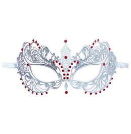 Weiße Maske Filigran mit Kristallelementen 'Anisia'