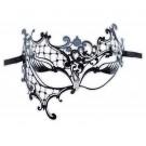 Asymmetrische Metall Maske Schwarz 'Dinora'