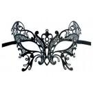 Elegante Schwarze Maske aus Metall 'Coletta'