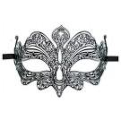 Filigrane Maske aus Metall Schwarz 'Sinfonie'