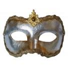 Venezianische Maske Colombina Silber