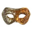Venezianische Colombina Maske Gold mit Stuck