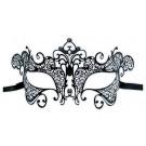 Venezianische Maske Schwarz aus Metall 'Nadira'