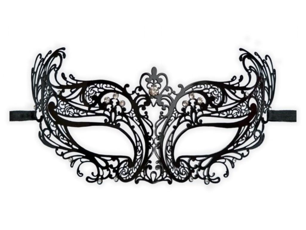 Delicate Black Mask \'Vanessa\'