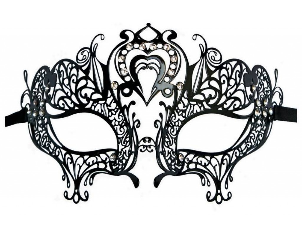 Mask Filigree Metall \'Heart Shape\'